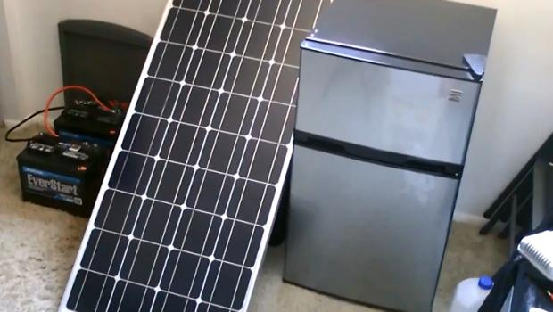 Solar Powered Fridge Freezer 30 Watt Off Grid