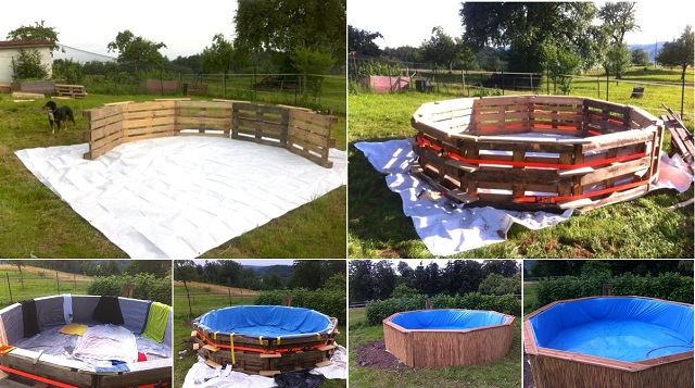 A DIY Swimming Pool Made Out Of 10 Pallets...