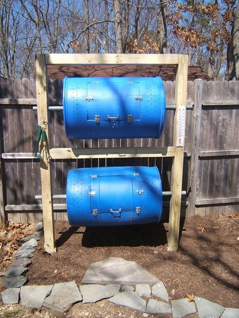 how to make a barrel into a composter