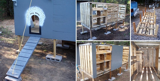 Making a chicken coop out of old pallets eco snippets for How to build a chicken coop from wooden pallets