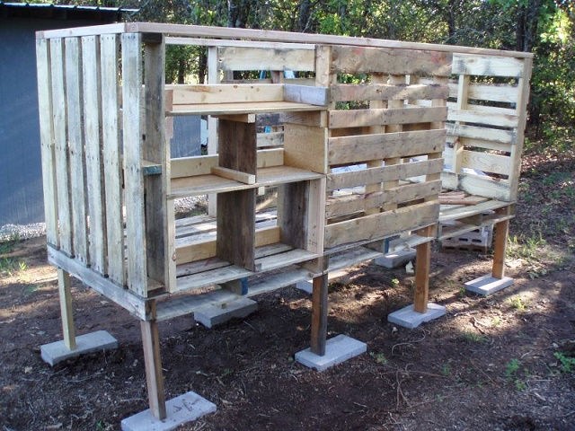 making a chicken coop out of old pallets eco snippets