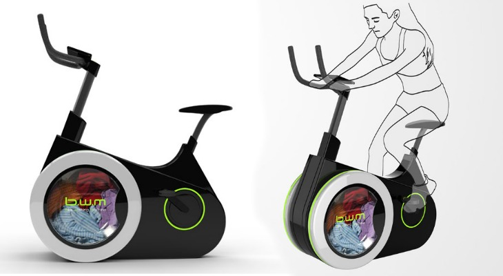 Exercise AND Wash Laundry With This Amazing Eco-Friendly Bicycle...