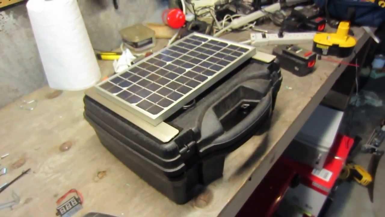 Photos of Homemade Portable Solar Generator