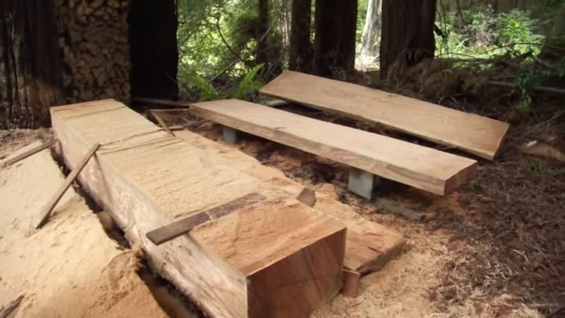 How To Turn A Tree Into Lumber Using A Homemade Alaskan Mill...