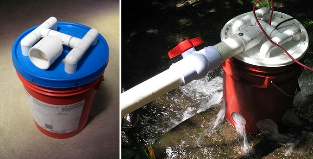 How To Build A 5 Gallon Bucket Hydroelectric Generator...