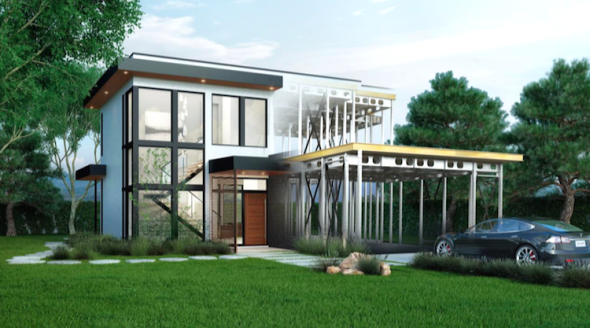 Stanford professor s new zero net enegry home sets the for Zero net energy home