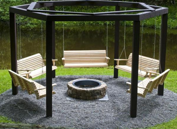 An Awesome Fire Pit Swing Set DIY Project...