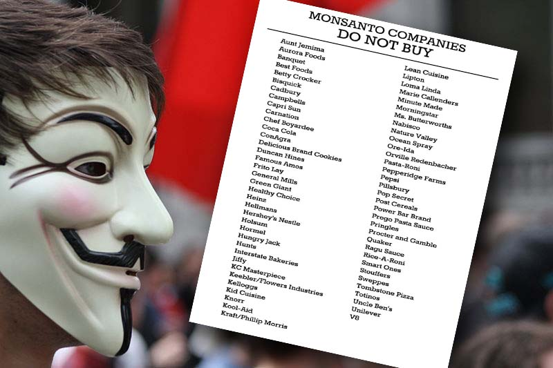 """Printable List Of Monsanto Owned """"Food"""" Producers..."""