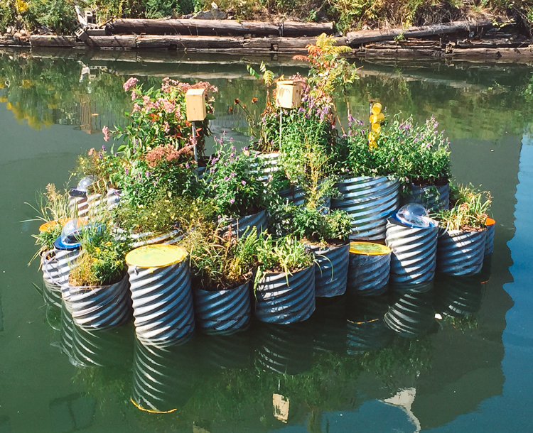 This Tiny Floating Garden Is Successfully Cleaning The Most Polluted Waterway In The U.S...