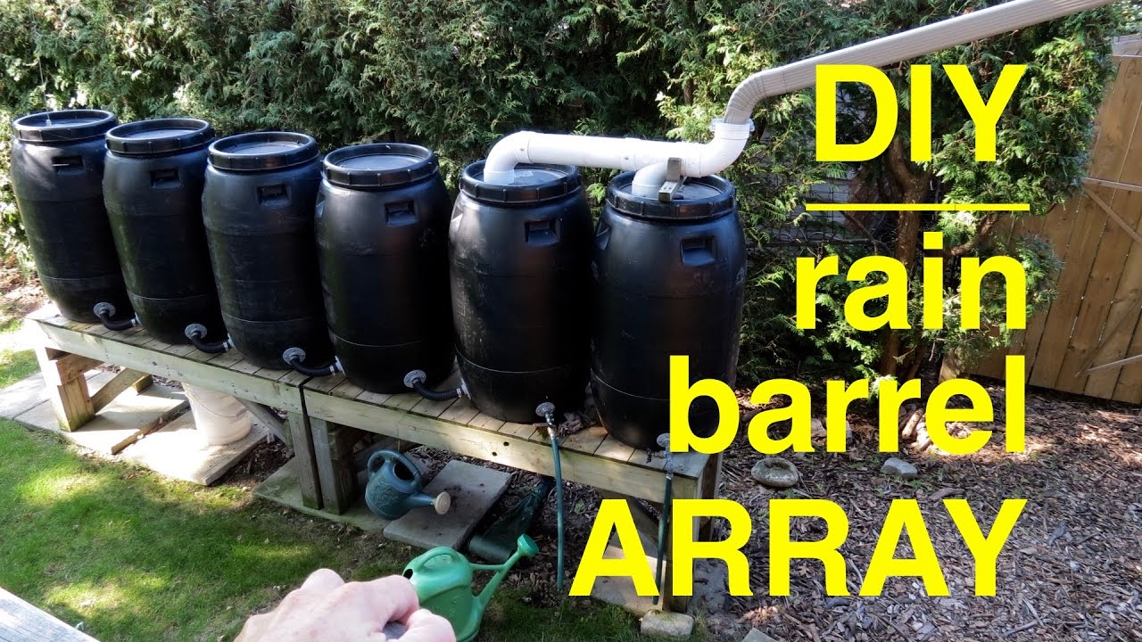 How To Make A DIY Rain Barrel Array...