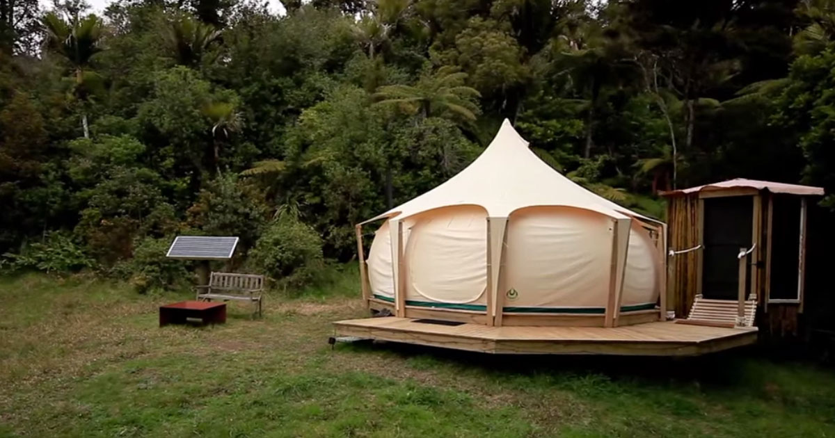 Escaping The Rent Trap – Simple Living In A Lotus Belle Tent...