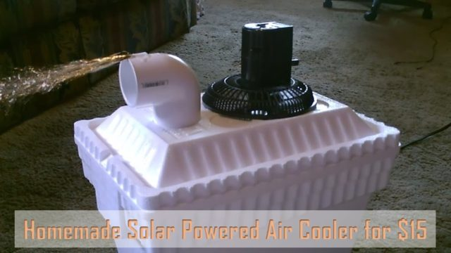 DIY Homemade Solar Powered Air Cooler For $15...