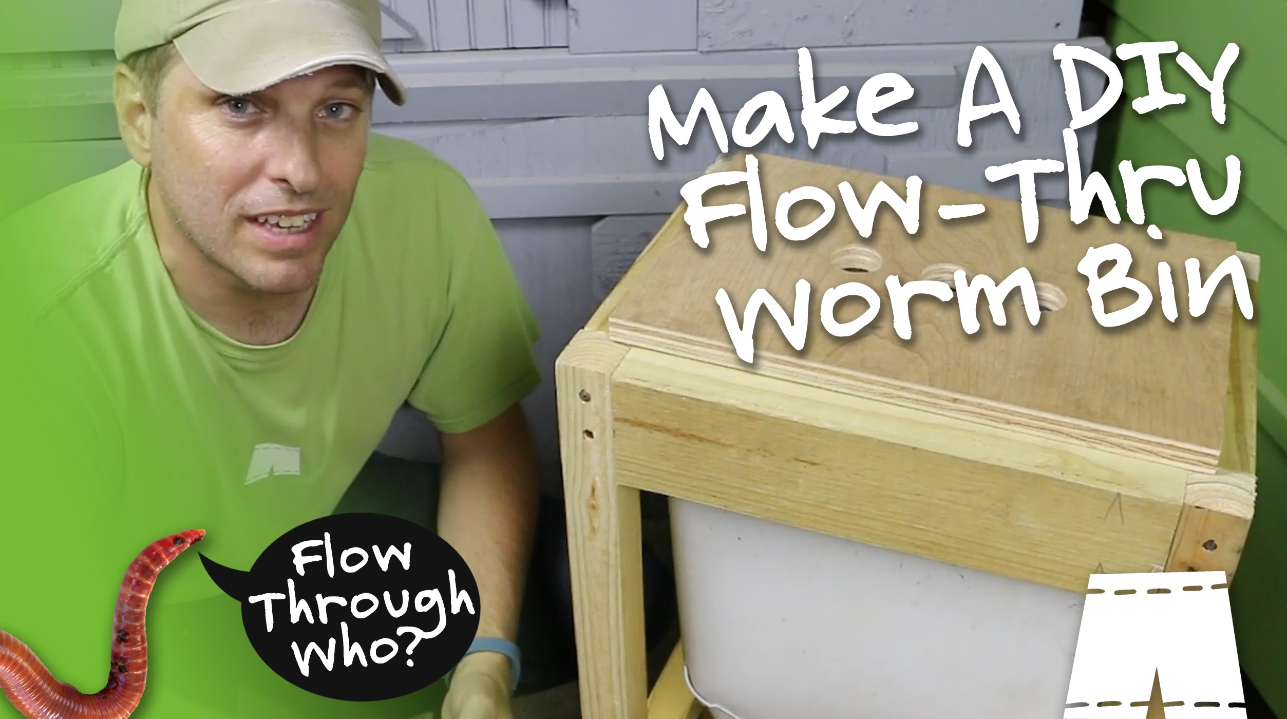 How To Make, Setup & Harvest From A Flow Through Worm Composter...