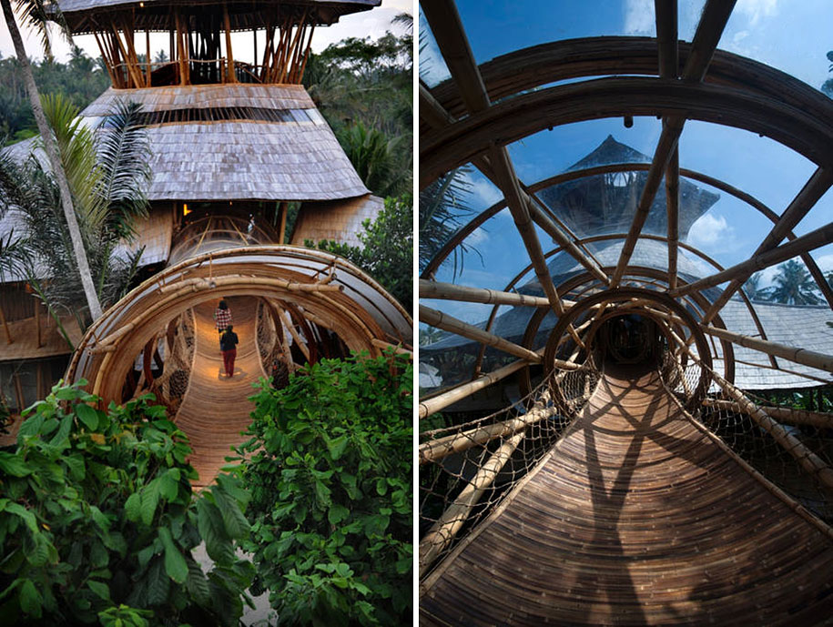 Amazingly Beautiful Houses Made Out Of Bamboo...