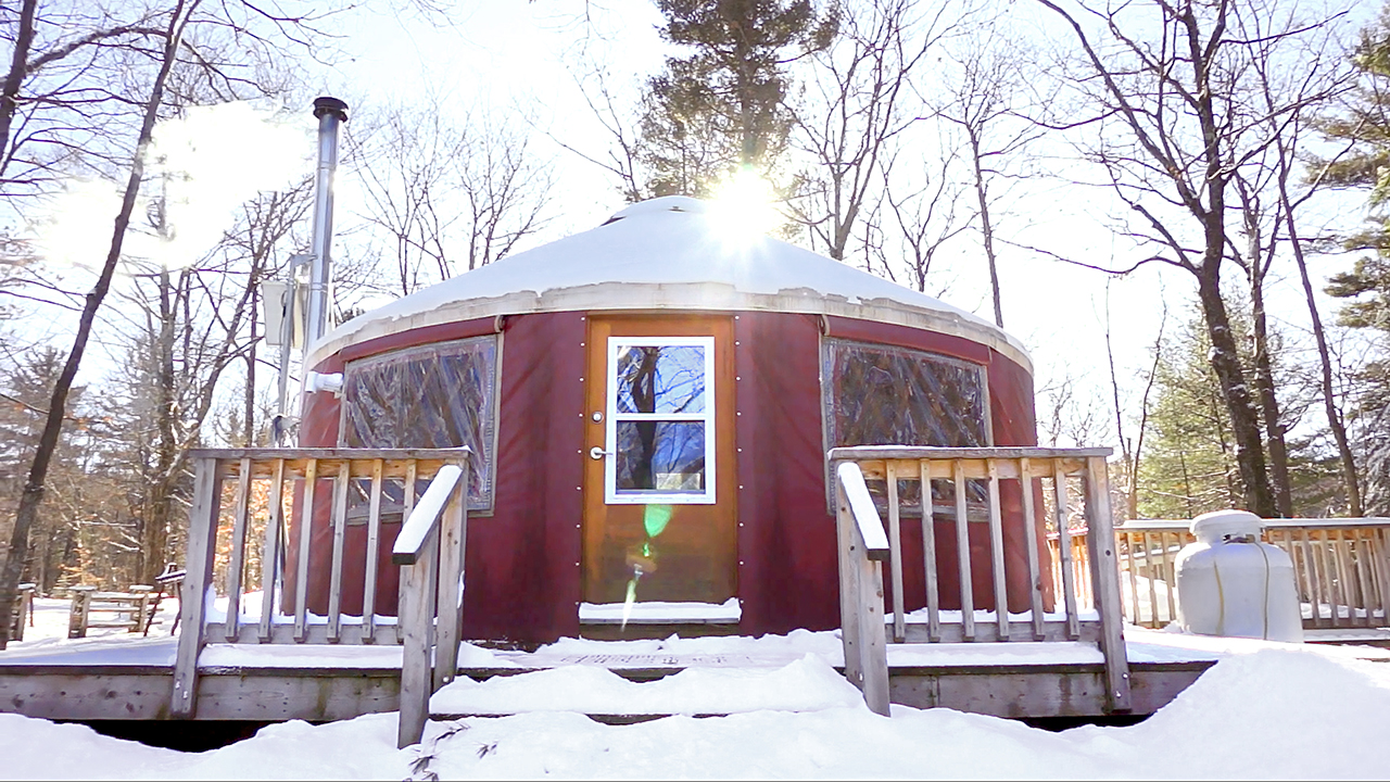 Off-Grid Yurt Tour: A Tiny House Alternative...