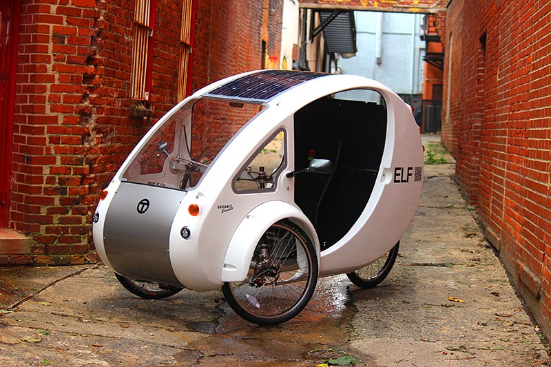 The ELF Solar Powered Car-Bike Goes 48 Miles Per Charge (Further If You Peddle)...