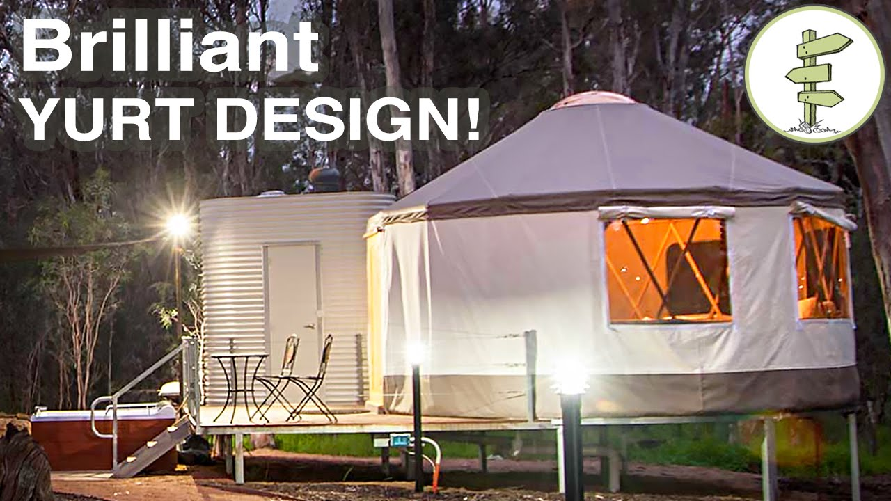 A Brilliant Yurt Design That Mixes Tradition With Super Modern Construction...