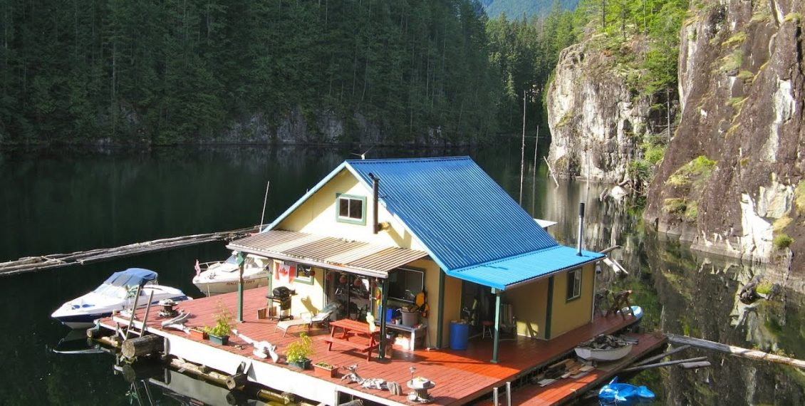 An Off-Grid Float Cabin Tiny Dream Home In The BC Wilderness...