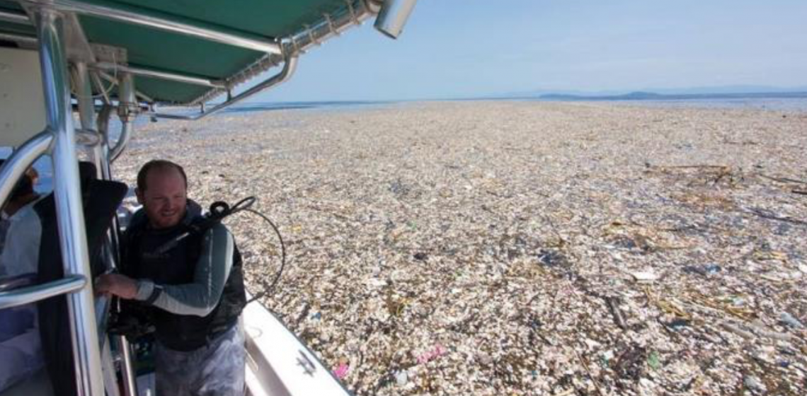 Shocking Sea Of Plastic & Styrofoam Captured In Pictures From Caribbean...