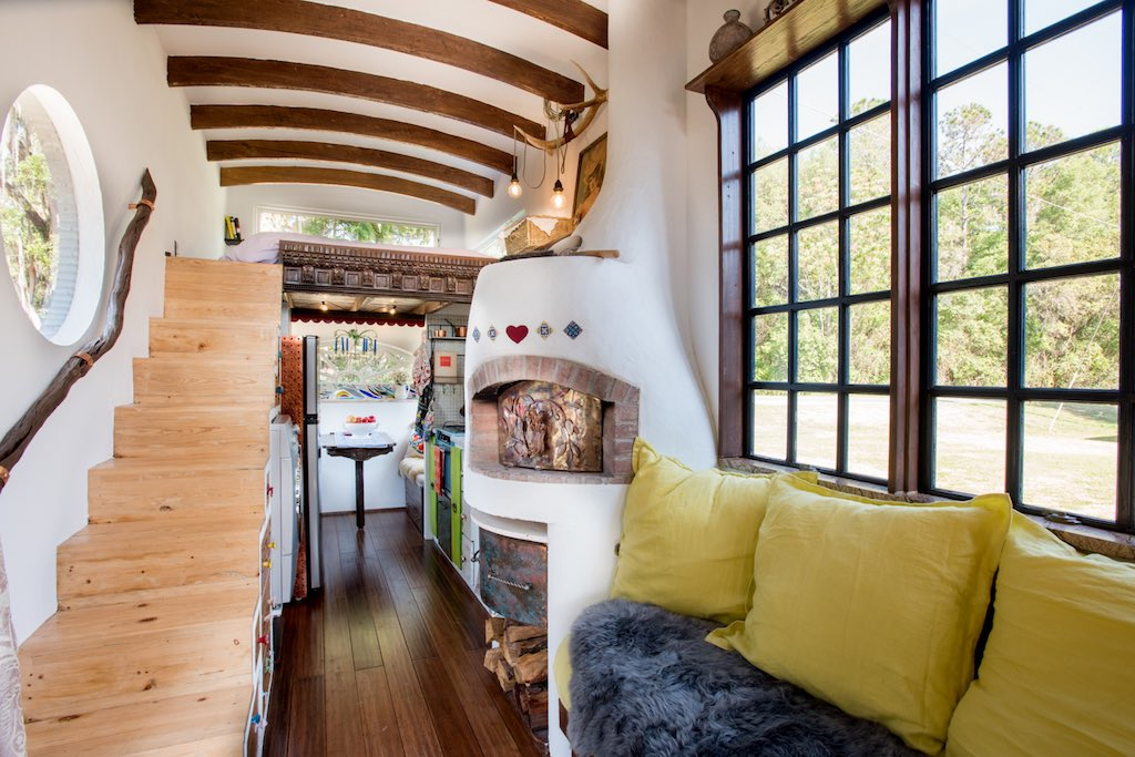 Amazing DIY European Style Tiny House With Pizza Oven...