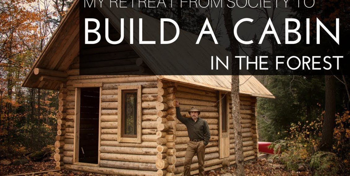 Man Builds Off Grid Log Cabin Alone In The Canadian Wilderness...