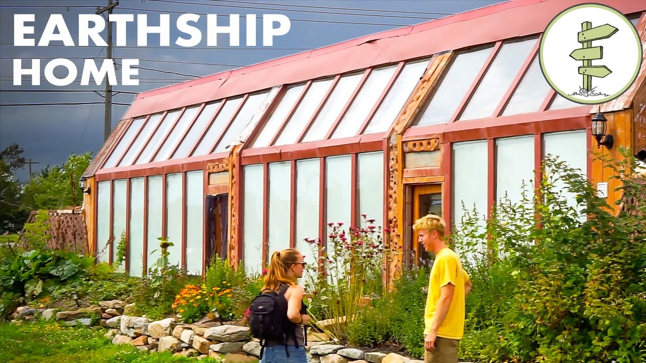 Young Man's Inspiring Earthship Home, Building & Living Experience...