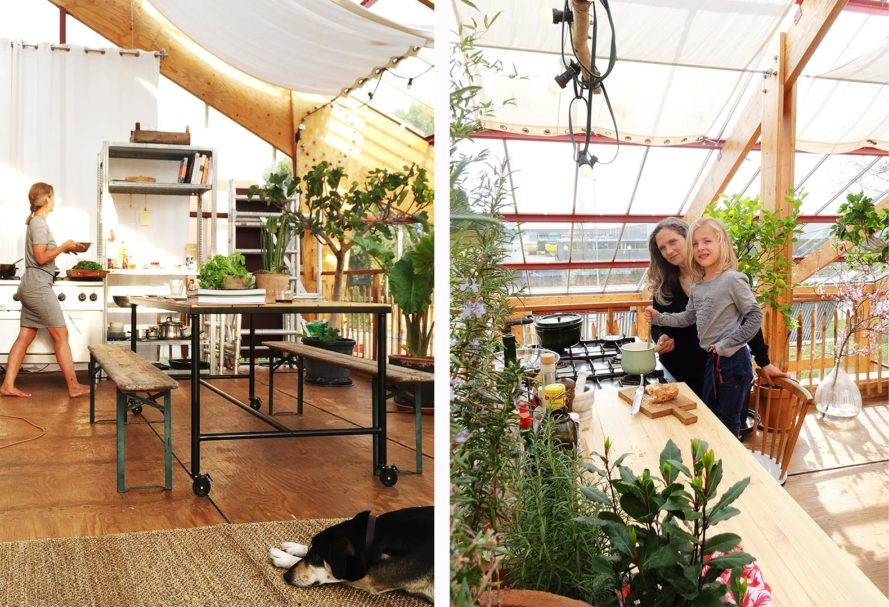 Family Try Living Self-Sufficiently In Home Inside A Greenhouse In Rotterdam...