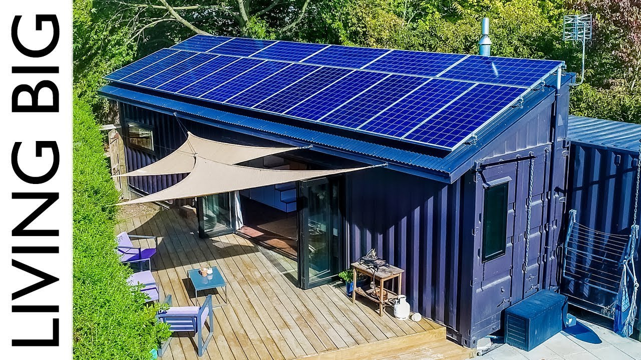 40ft Shipping Containers Transformed Into Amazing Off-Grid Family Home...
