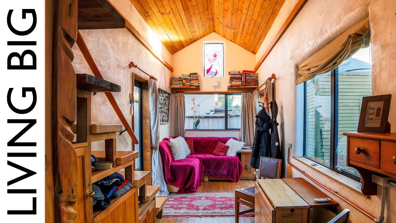 Beautiful Tiny Home Built To Look Like An Earthen Cottage...