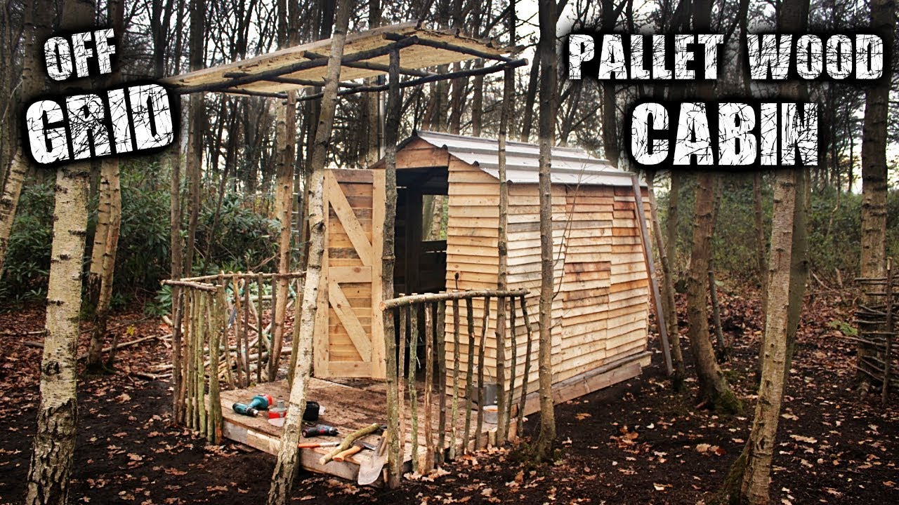 Building An Off Grid Cabin Using Free Pallet Wood Eco