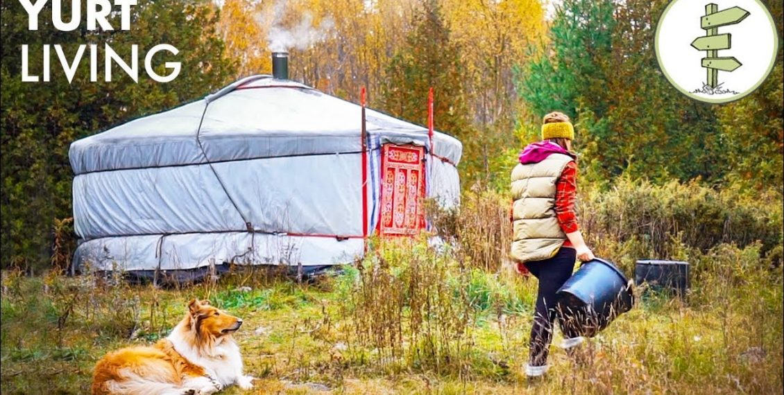 Woman Living Fully Off-Grid For 2 Years In A Tiny Yurt...