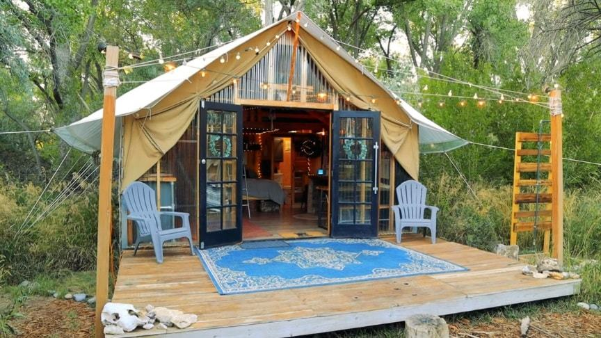 Back To Nature Living In A Beautiful Tiny House Tent...