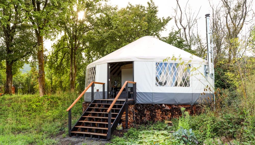 This Amazing Modern Yurt Is A Design Marvel...