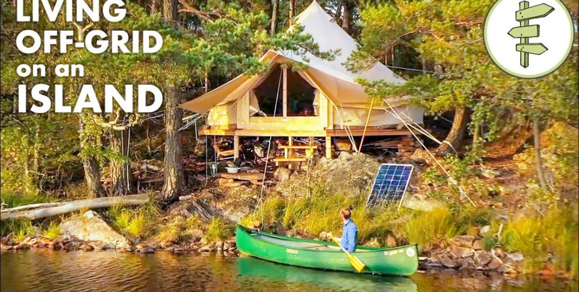 Man Living Off-Grid In A Tent On An Island...