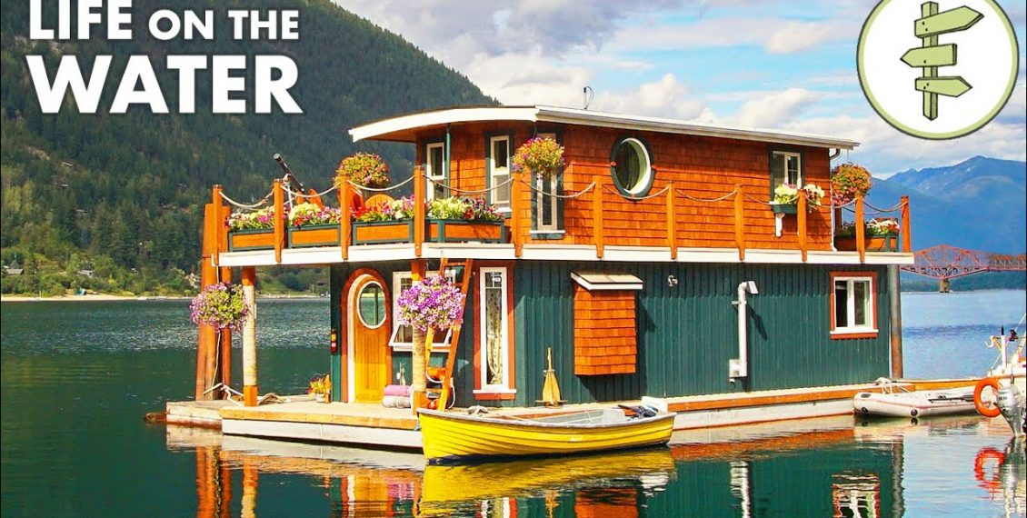 This Spectacular Floating Home Is Self-Built & Off-Grid…