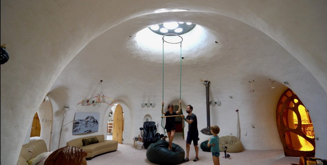 Earth Integrated Underground Dome House...