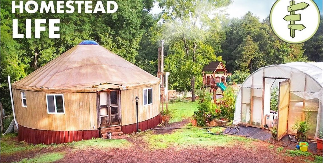 Self-Reliant Family Builds A Thriving Homestead While Living In A Tiny Yurt...