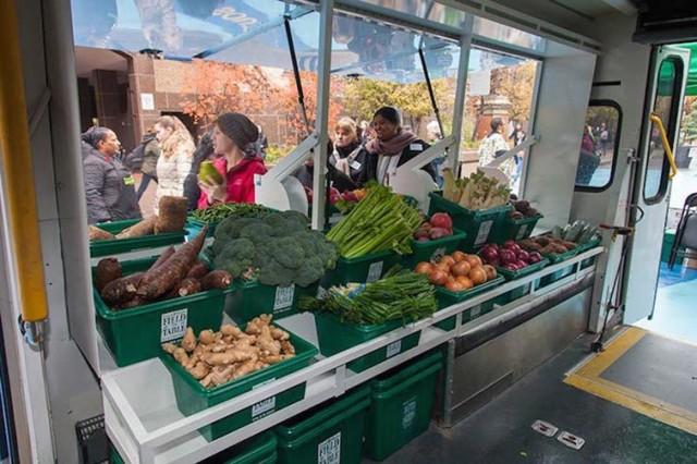 Bus Converted Into Mobile Food Market Brings Fresh Produce To Low-Income Neighbourhoods...