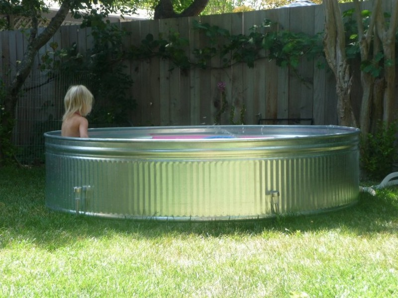 Galvanized Stock Tank Turned Into A Simple DIY Pool...