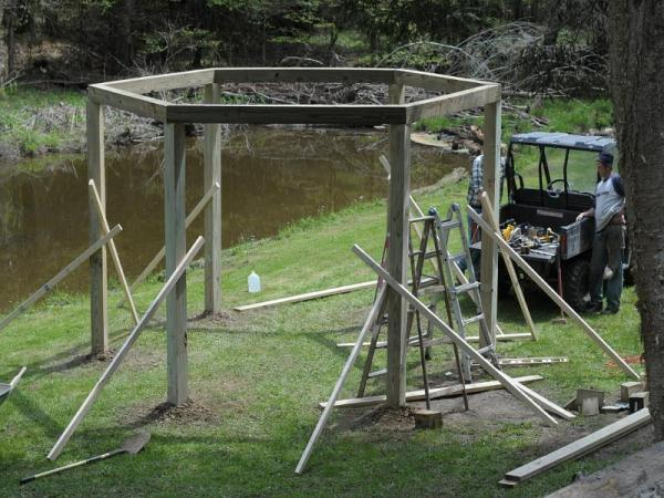 Awesome Fire Pit Swing Set DIY Project...