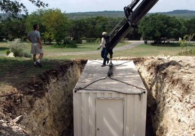 Using A Shipping Container As An Underground Shelter / Root Cellar...