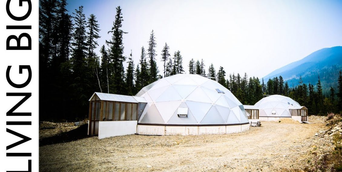 Off-Grid Tiny House Paradise With Geodesic Dome Greenhouse...