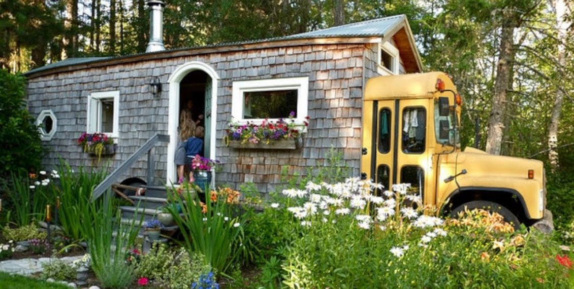 Couple Turns Skoolie, Short-Bus & Container Into Family Home...