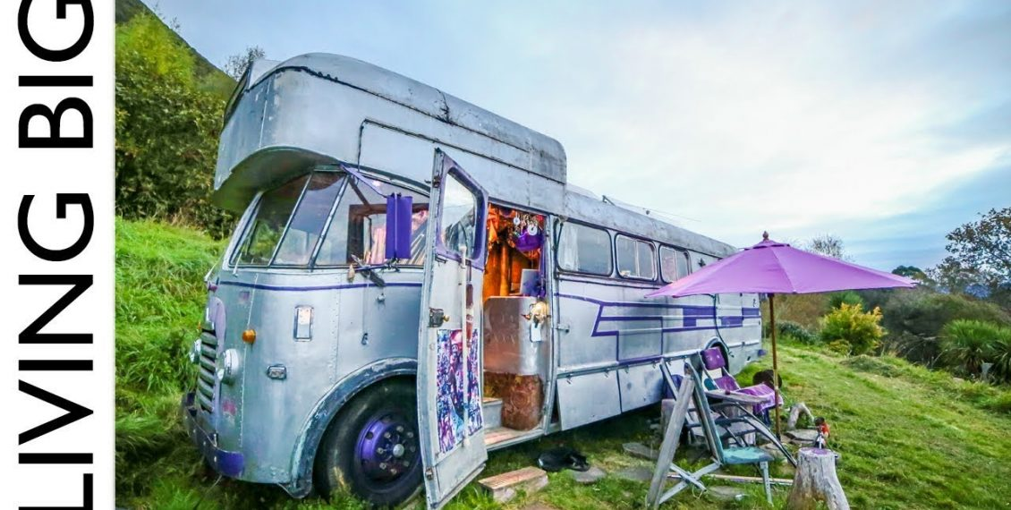 A Bedford House Bus In An Off-The-Grid Upcycled Homestead Kingdom...