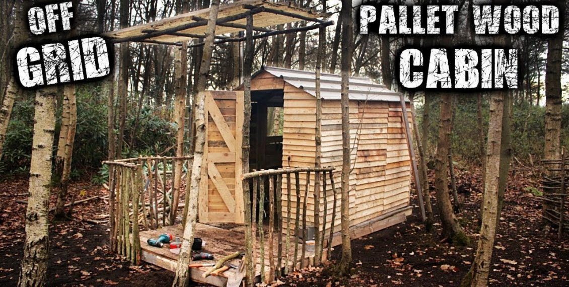 Building An Off Grid Cabin Using Free Pallet Wood...