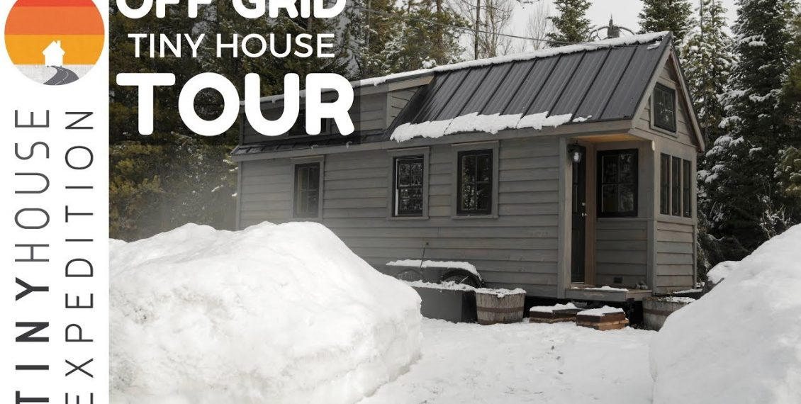 Off-Grid Tiny House Tour Nestled In Wyoming Mountains...