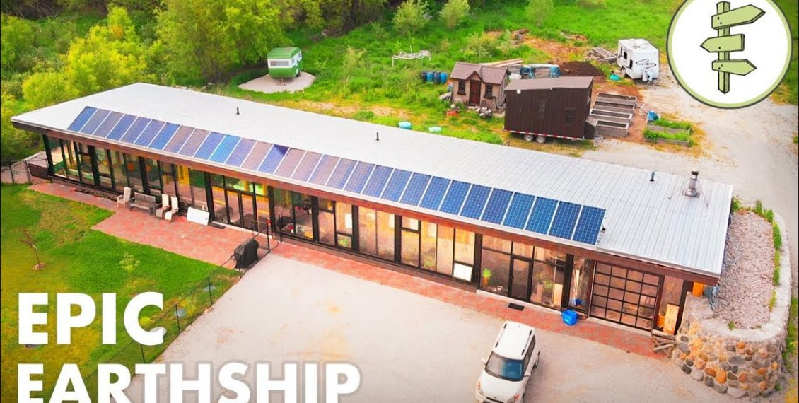 Man Living In A Epic Sustainable & Innovative Earthship Home...