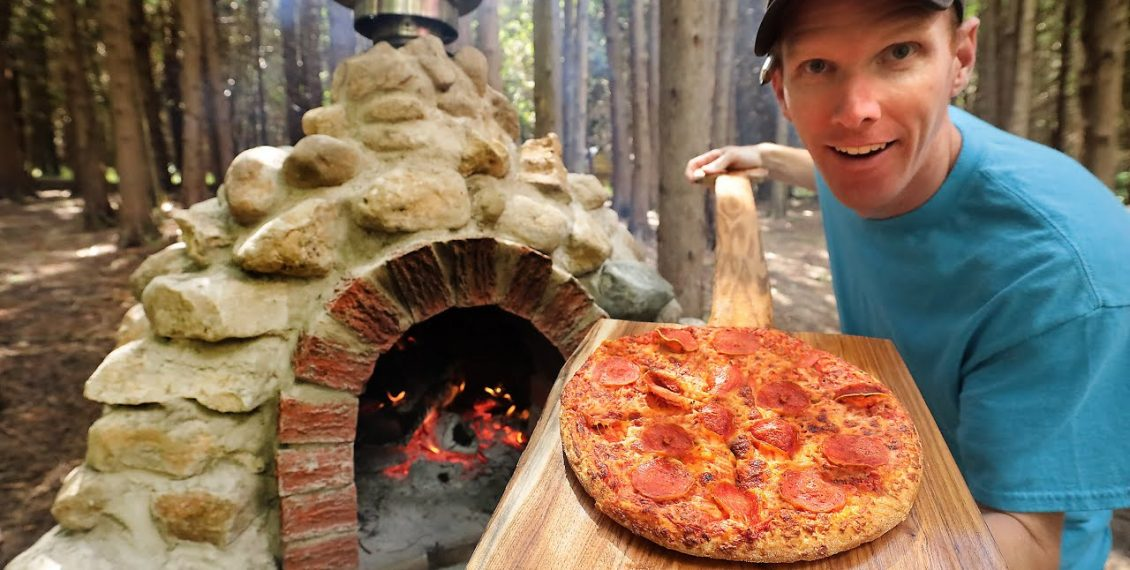 Building A Rock Pizza Oven At The Off Grid Cabin...